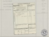 A Kleiderkasse-SS Receipt for Clothing Items Purchased by Hasselwander for Officer's School
