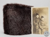 A Rare First War 1st Canadian Contingent Overseas Winter Beaver Hat
