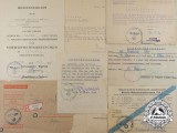 "A Fine Document Set to Otto Harthaus of the 116th Panzer ""Greyhound"" Division"