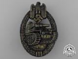 An Absolutely Mint Bronze Grade Tank Badge by Ferdinand Wiedmann