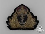 A Royal Canadian Navy (RCN) Officer's Cap Badge