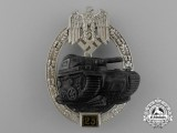 A Special Grade Tank Badge for 25 Panzer Engagements by Josef Feix & Sohn of Gablonz