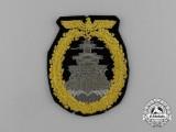 A Scarce Cloth Version of a Kriegsmarine High Seas Fleet Badge