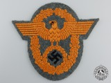 A German Gendarmerie NCO's Sleeve Eagle; 1941 Pattern