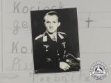 A Private Studio Picture Postcard of Knight's Cross Recipient: Josef Kociok