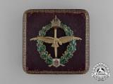 An Extremely Rare Gold Austrian Pilot's Badge to an Austrian Ace; Hauptmann Otto Jindra