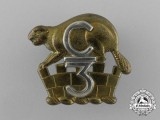 A First War 3rd Infantry Battalion Officer's Collar Badge