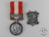 A Canada General Service Medal 1866-1870 & Shooting Medal to the Roxham Infantry Company