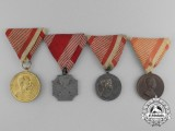 Four Austrian Medals & Awards