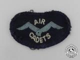 A Second War Royal Air Force (RAF) Air Defence Cadet Corps Shoulder Flash