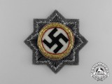 A Mint Wehrmacht Heer (Army) Issue German Cross in Gold; Cloth Version by C. E Juncker