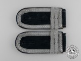 A Pair of Wehrmacht Medical Sergeant Officer Candidate Shoulder Boards