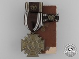 A NSDAP Bronze 10-year (3rd Class) Long Service Award Set in its Box of Issue by Fritz Zimmermann