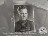 A Wartime Signed Photo of Panzer General & Oak Leaves with Swords Recipient Gerhard Graf von Schwerin