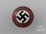 A NSDAP Party Member's Lapel Badge by Apreck & Vrage of Leipzig
