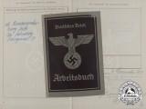 A Labour Book to Aircraft Manufacturer Employee Erich Wichmann