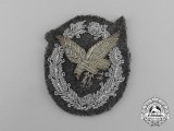 A Luftwaffe Radio Operator & Air Gunner Badge, Cloth Officer's Version