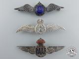 Three Second War Royal Australian Air Force (RAAF) Silver Wings