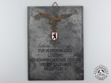 A Luftwaffe Honour Plaque for Outstanding Achievement to Major Ludwig Niemeyer
