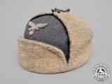 "A 1942-Issue LuftwaffeNCO's Artificial Fur Winter Cap ""Ushanka"" by G.A. Hoffmann"