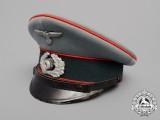 A Wehrmacht Flak/Artillery Parade Waffenrock NCO's Visor Cap