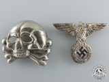 An SS Eagle and Skull 1st. Model for Visor Cap