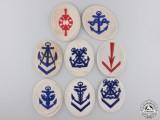 Eight Second War Kriegsmarine Sleeve Insignia