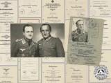 The Award Documents of Famed Bomber Ace Eduard Lindinger