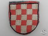 A Second War Croatian Volunteer Shield; Cloth Version