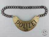 A Weimar Republic Numbered Police Gorget