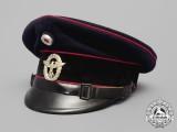 A German Fire Police Visor Cap; Wartime Re-Badged