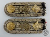 A Pair of First War German Kriegsmarine Engine Room Oberleutnant's Shoulder Boards