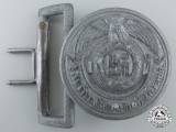A Mint SS Officer's Belt Buckle by Emil Jüttner, Ludenscheid