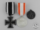 Three First War German Medals, Awards, and Decorations