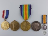 Five First War British Medals