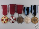 Five Polish Orders, Medals, and Awards