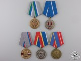 Five Russian Federation Medals
