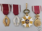 Four Belgian Order of the Crown Awards