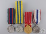 Four Canadian Miniature Medals and Awards