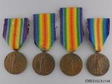 Four First War Regimental Victory Medals