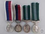 Four Miniature British Air Force Medals
