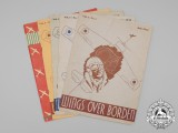 """Five Royal Canadian Air Force (RCAF) """"Wings Over Borden"""" Magazines 1942"""
