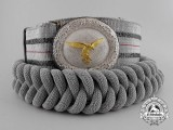 A 1st Pattern Luftwaffe Officer's Brocade Dress Belt and Aiguillette with Case