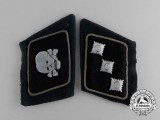 "A Fine Set of Waffen-SS ""Totenkopf"" Division Untersturmführer Tabs; Uniform Removed"