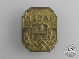 A 1933 10-Year Anniversary of  NSDAP in Obergunzburg Badge