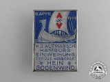 A 1934 Hamburg HJ Rally for the Opening of the Youth Hostel in Hein Godenwind Badge