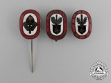 Three RAD (National Labour Service) Stick Pins and Badges