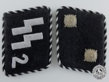 An SS-Standarte 2/VT - Germania SS Oberscharführer Set of Collar Tabs