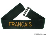 "German Custom's Official Cufftitle ""Français"""