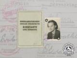 A Wartime ID Card for Occupied Poland to Janina Zdanowicz
